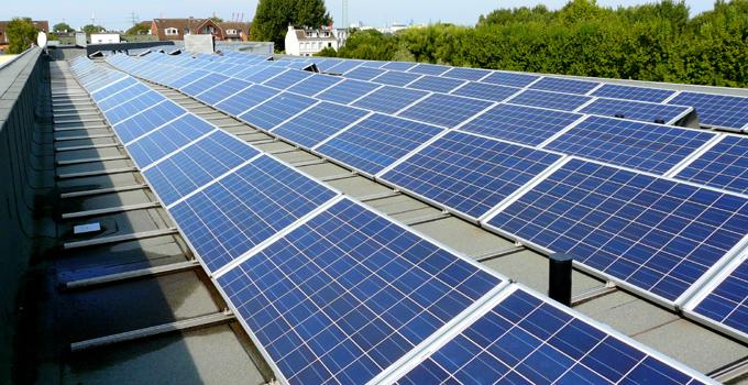 Solaranlage auf dem Open House in Hamburg-Wilhelmsburg
