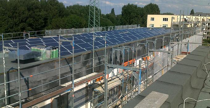 Solarmodule auf dem Open House