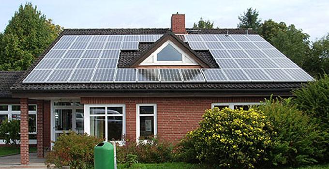 Solaranlage auf dem Gemeindehaus in Klecken
